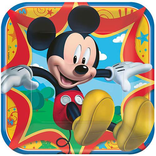 "Mickey Fun & Friends 9"" Square Dinner Plates"