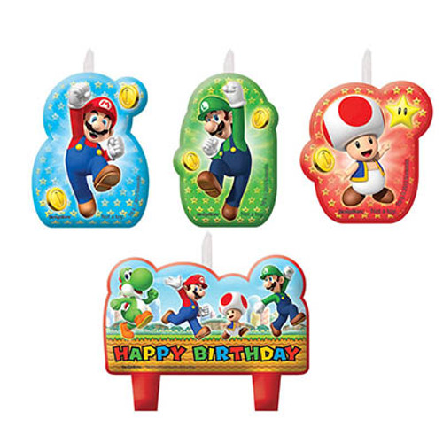 Super Mario Molded Candle Set