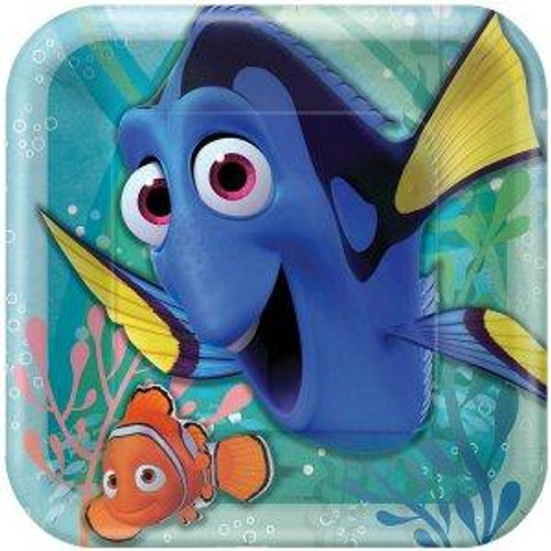 """Finding Dory 9"""" Square Dinner Plates 8pcs/pack"""