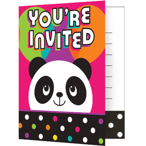 Panda-monium Foldover Invitations