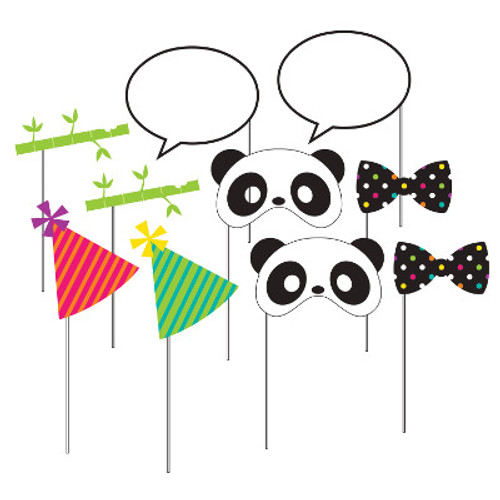 Panda-monium Photo Booth Props
