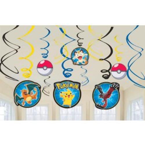 Pokemon Pikachu Swirl Danglers