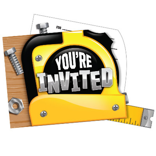 Handyman Pop-up Invitations