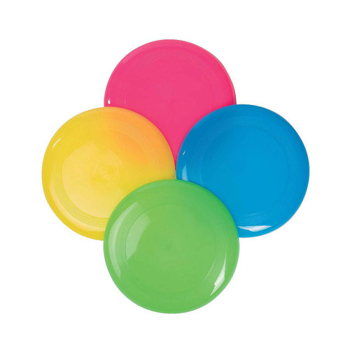 "9"" Bright Color Flying Discs Frisbee"