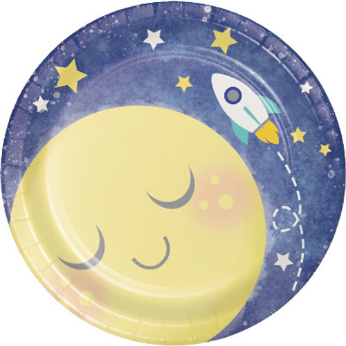 "Moon and Back 7"" Lunch Plates"