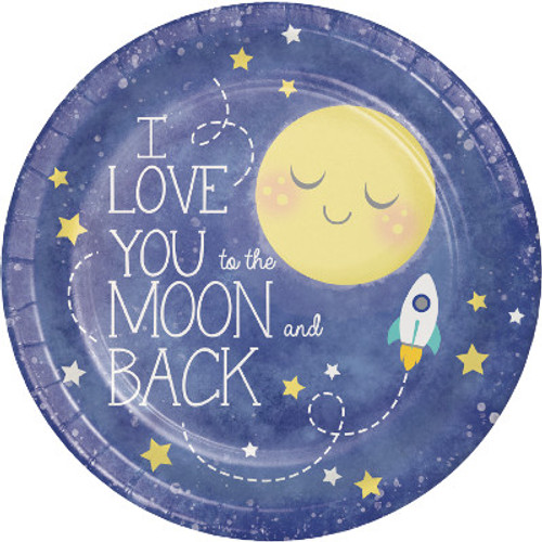 "Moon and Back 9"" Dinner Plates"
