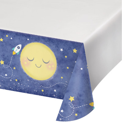 Moon and Back Plastic Tablecover