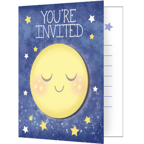 Moon and Back Foldover Invitations