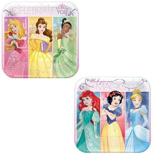 """Disney Princess Dream 7"""" Square Dessert Plates"""