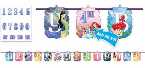 Disney Princess Dream Add An Age Jumbo Letter Banner Kit