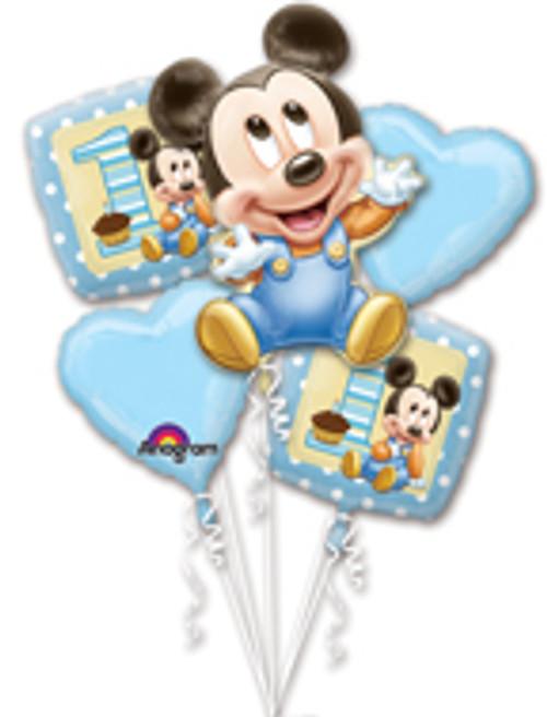Mickey 1st Birthday Balloon Bouquet