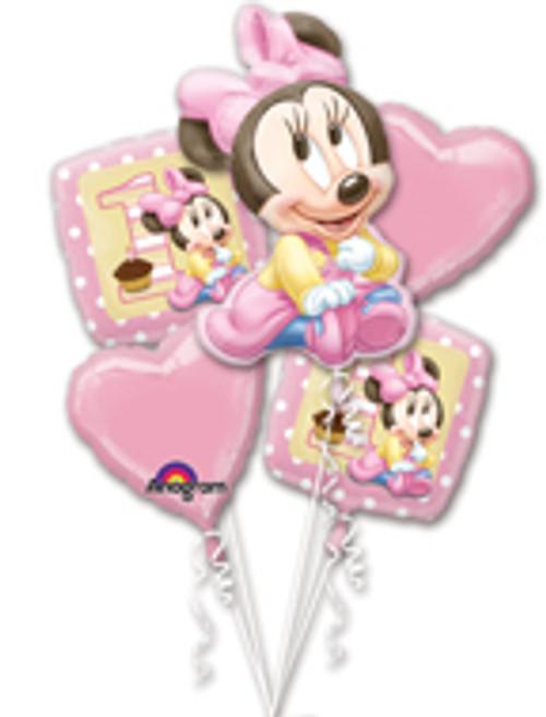 Minnie 1st Birthday Balloon Bouquet