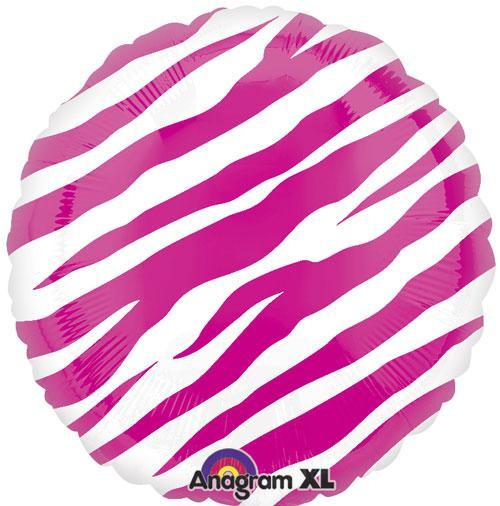 "18"" Zebra Pink Print Balloon"