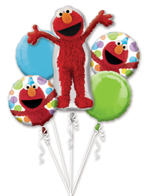 Elmo Style Birthday Balloon Bouquet
