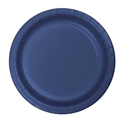 "Navy Blue 7"" Dessert Plates"