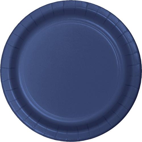 "Navy Blue 9"" Dinner Plates"