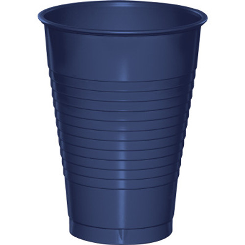 Navy Blue 12 Oz Solid Plastic Cups