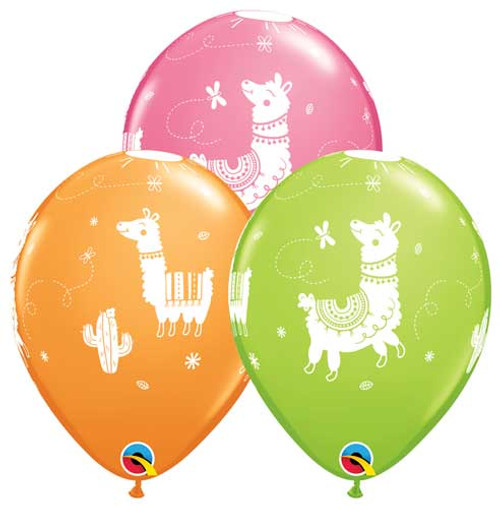 "11"" Llama Latex Balloon Assortment"