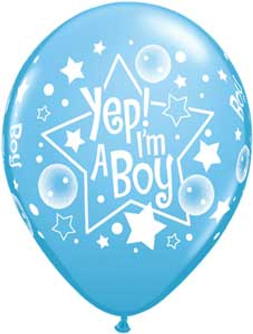 "11"" Yep I'm a Boy Latex Balloon"