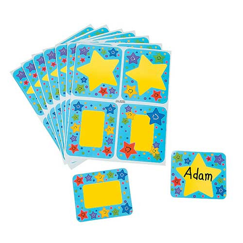 Super Star Sticker Name Tags