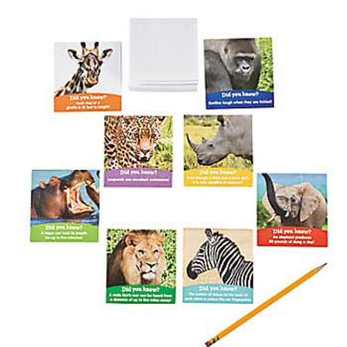 Safari Animals Notepads