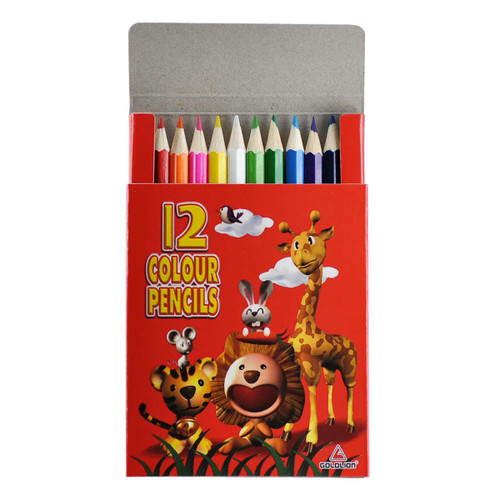 Animals Mini Color Pencil 12 colors per Box