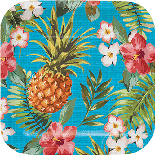 "Aloha 7"" Square Lunch Plates"