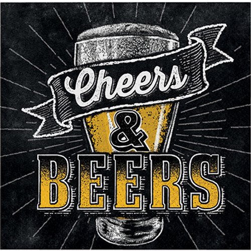Cheers & Beers 2-Ply Beverage Napkins