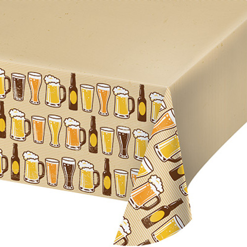 Cheers & Beers Plastic Tablecover
