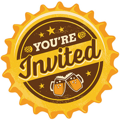 Cheers & Beers Postcard Invitations