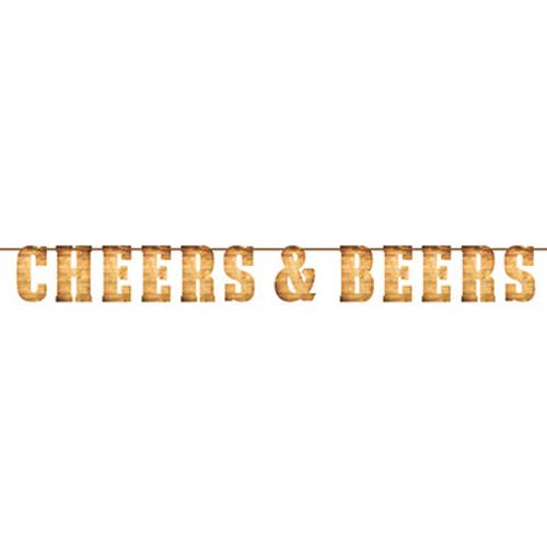 Cheers & Beers Letter Banner