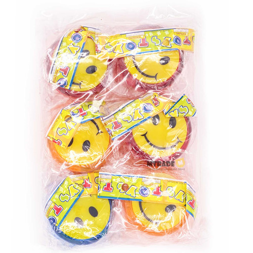 Smiley Face Yo Yo 6pcs/pack