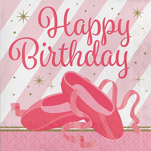 Twinkle Toes Birthday 2-Ply Lunch Napkins