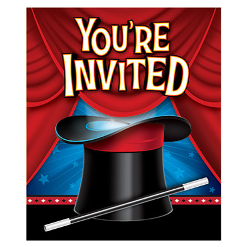 Magic Party Gatefold Invitations