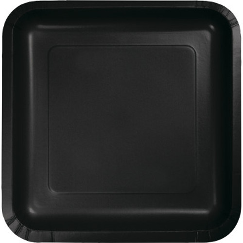 "Black 7"" Square Lunch Plates"