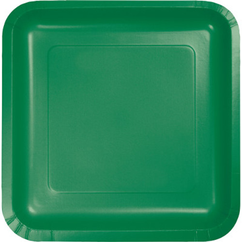 "Green 7"" Square Lunch Plates"
