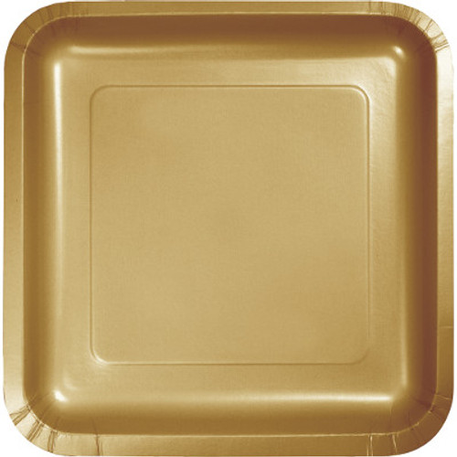 "Gold 7"" Square Lunch Plates"