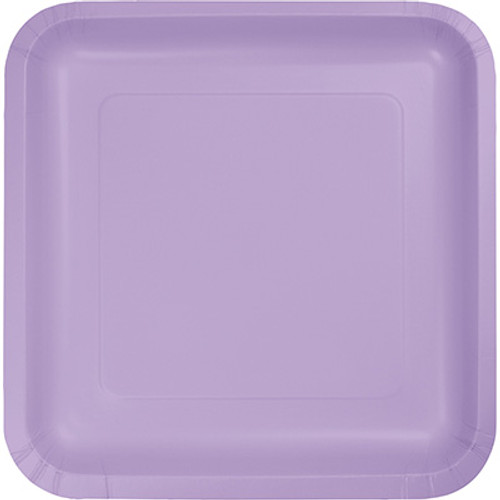 "Lavender 7"" Square Lunch Plates"