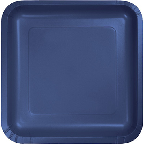 "Navy Blue 7"" Square Lunch Plates"