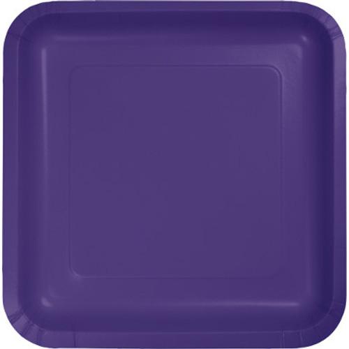 "Purple 7"" Square Lunch Plates"