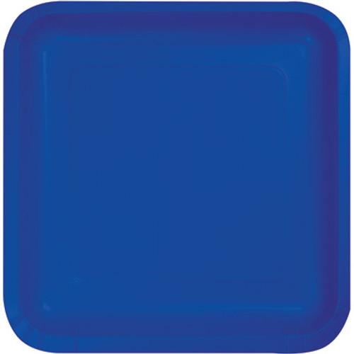 "Cobalt Blue 7"" Square Lunch Plates"