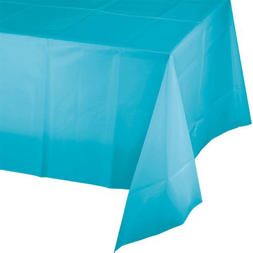 "Bermuda Blue Plastic 54""x 108"" Tablecover"