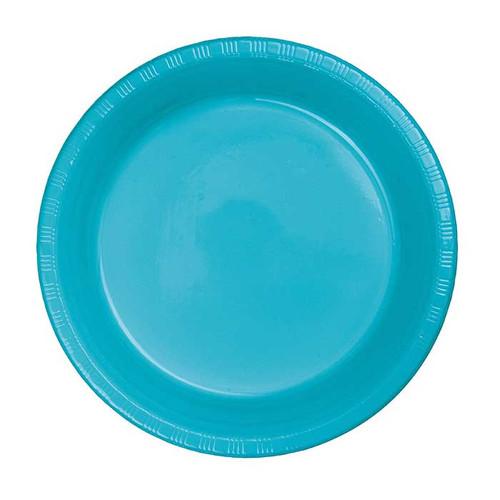 "Bermuda Blue 7"" Plastic Lunch Plates"