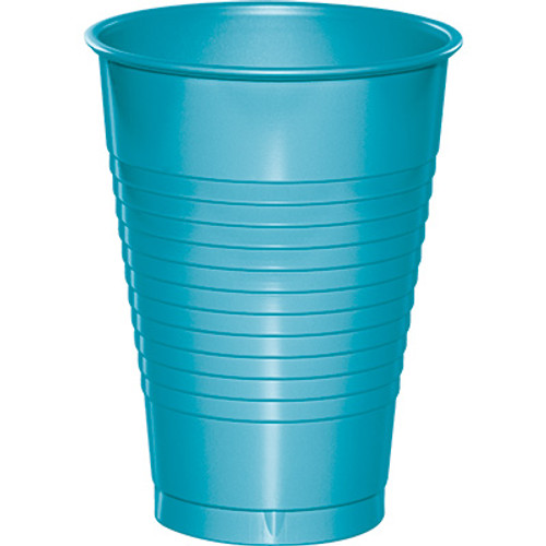 Bermuda Blue 12 Oz Solid Plastic Cups
