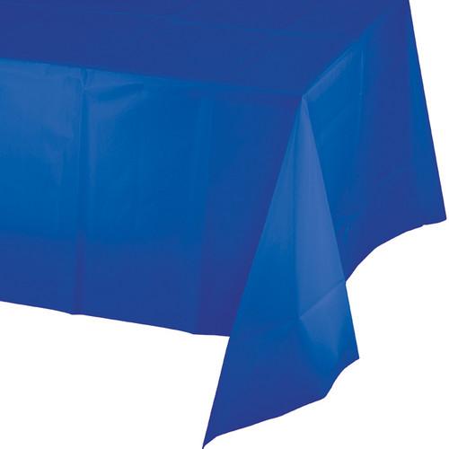 "Cobalt Blue Plastic 54""x 108"" Tablecover"