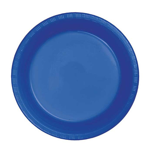 "Cobalt Blue 7"" Plastic Lunch Plates"