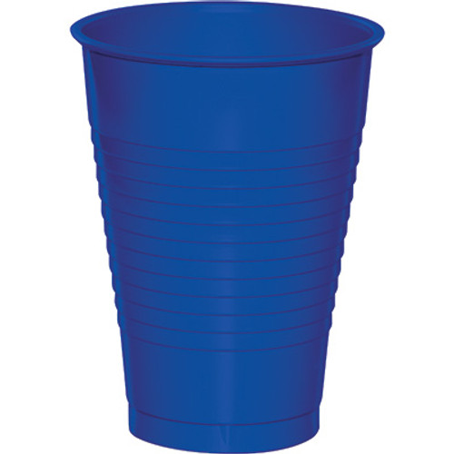 Cobalt Blue 12 Oz Solid Plastic Cups
