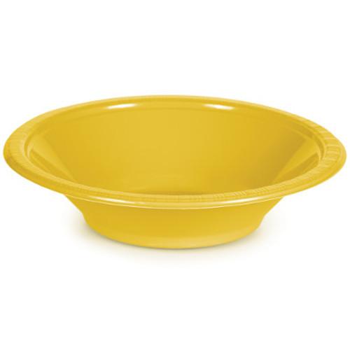 Yellow 12 Oz Plastic Bowls