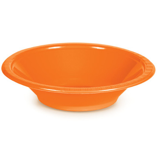 Orange 12 Oz Plastic Bowls