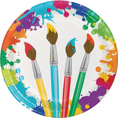 "Art Party 9"" Dinner Plates"